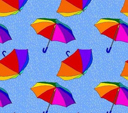 Rainbrella Button Romper