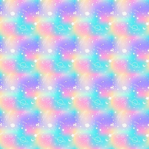 Pastel Planets Button Romper
