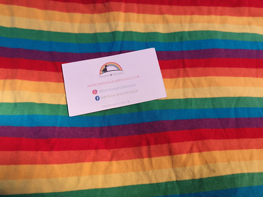 Thin Rainbow Stripe Babygrow