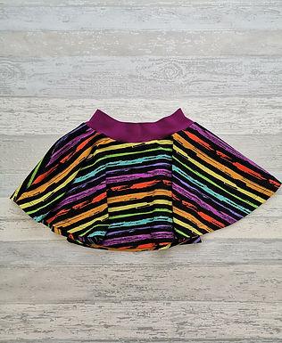 Grunge Rainbow Twirly Skirt