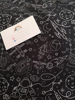 Space Doodle A-line dress