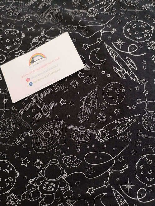 Space Doodle Twirly Skirt