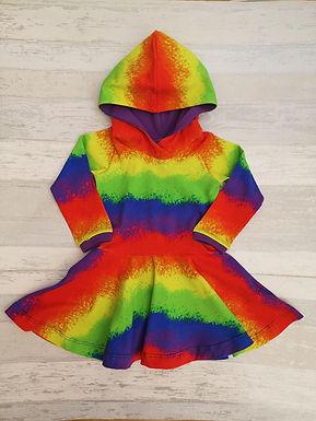 Airbrush Rainbow Twirly Dress