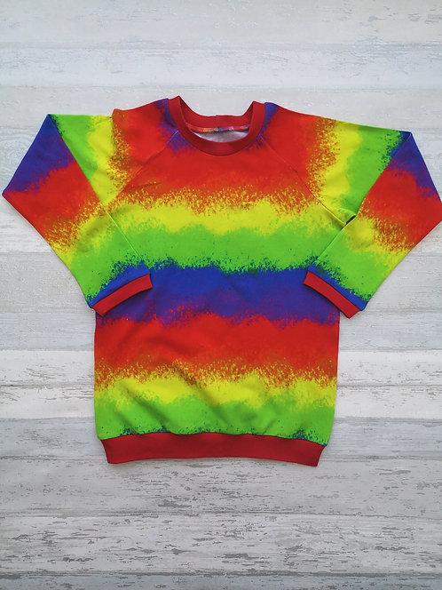 Airbrush Rainbow Raglan Tshirt