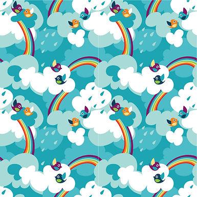 Rainbow Tweet Button Romper