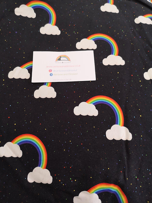 Midnight Rainbow Dungaree dress