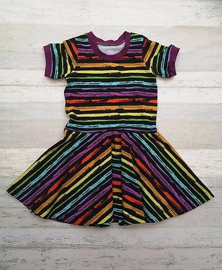 Grunge Rainbow Twirly Dress