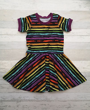 Grunge Rainbow Twirly Dress