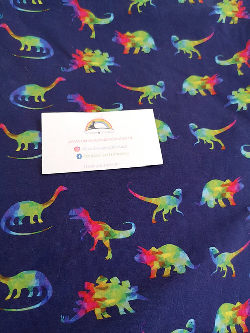Rainbow Geo Dino Dungaree Dress