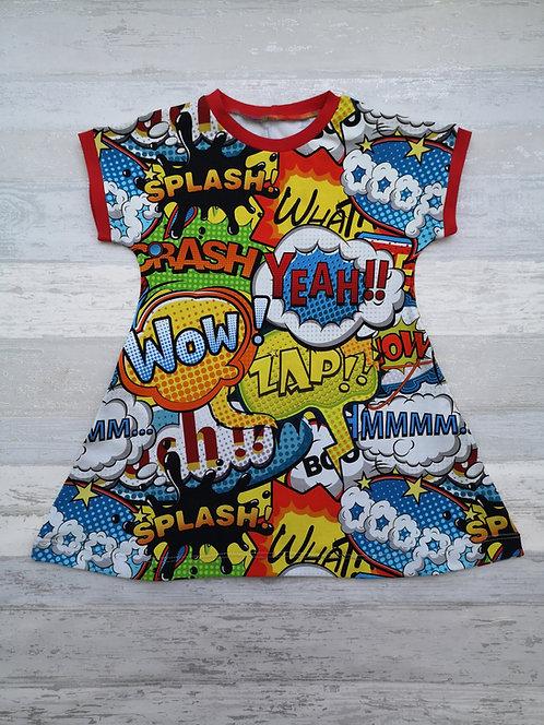 Comic A-line dress