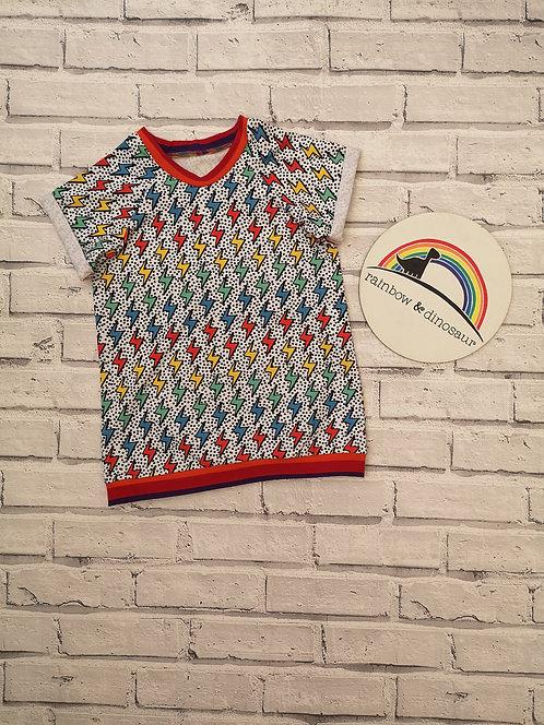 Rainbow Lightening Raglan Tshirt