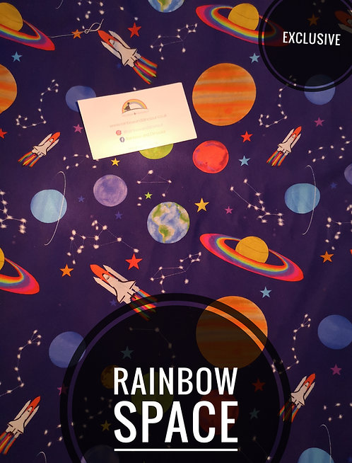 Rainbow Space Button Romper