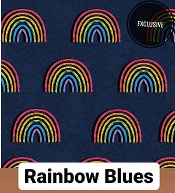 Rainbow Blues Button Romper
