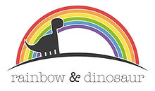 Rainbow and Dinosaur logo