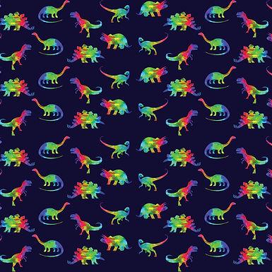 Rainbow Geo Dinos Babygrow