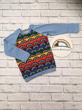 Colour Run Rainbow Raglan Tshirt