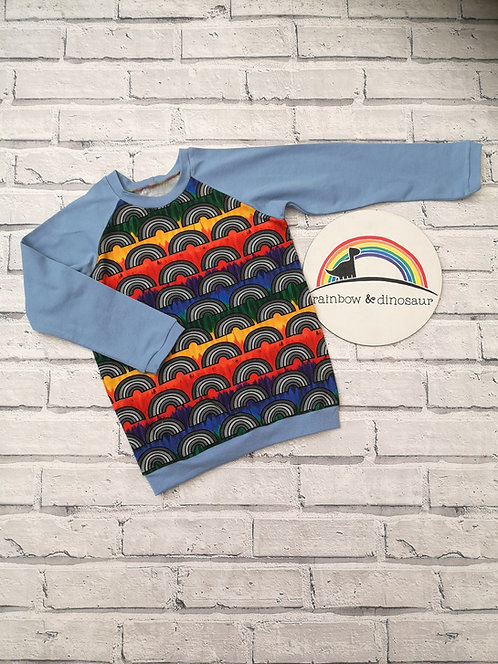 Colour Run Rainbow Raglan Tshirt