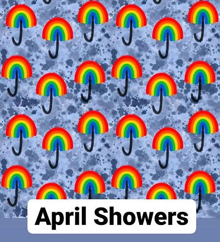 April Showers Button Romper