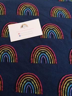 Rainbow Blues A-line dress