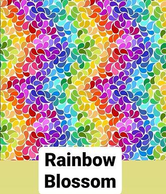 Rainbow Blossom Button Romper
