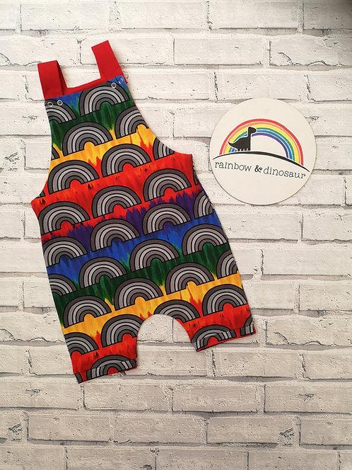 Colour Run Rainbow Dungarees