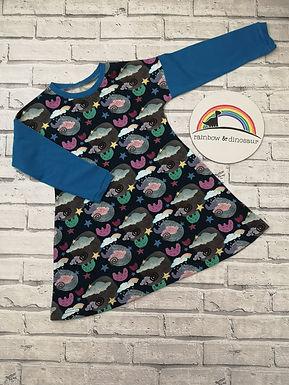 Quirky Cumulus A-line dress