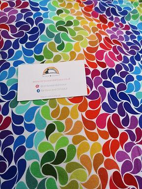 Rainbow Blossom Twirly Skirt