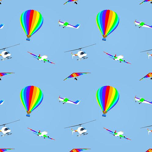 Rainbow Sky Footed Leggings