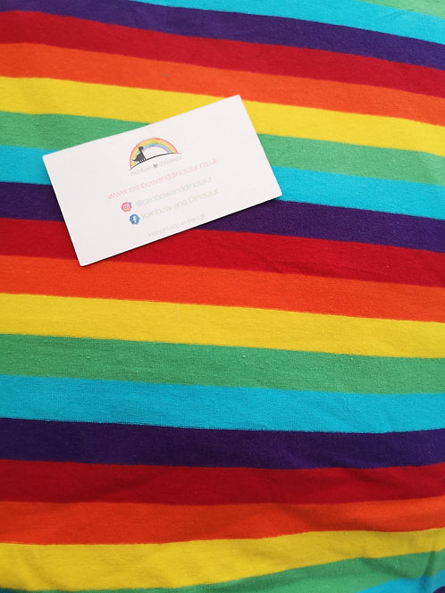 Rainbow Stripe Dungaree dress
