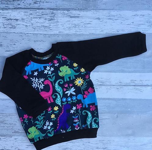6-9 months Floral Dino Tshirt