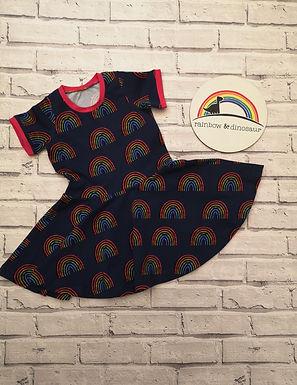 Rainbow Blues Twirly Dress
