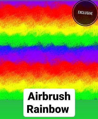 Airbrush Rainbow Button Romper