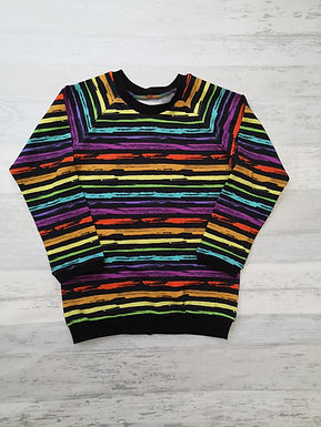 Grunge Rainbow Raglan Tshirt