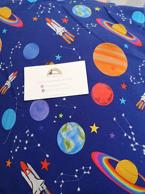 Rainbow Space Dungaree dress