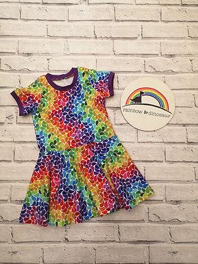 Rainbow Blossom Twirly Dress