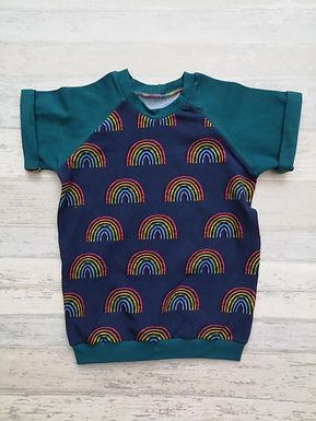 Rainbow Blues Raglan Tshirt