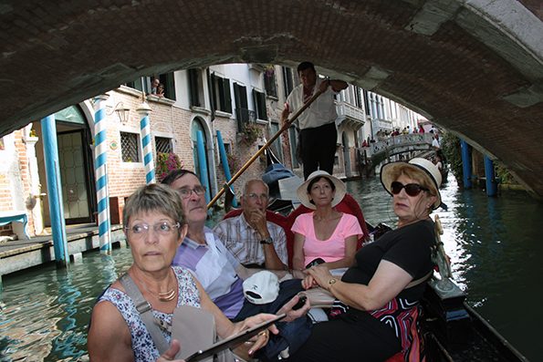 Venise, promenade en gondole