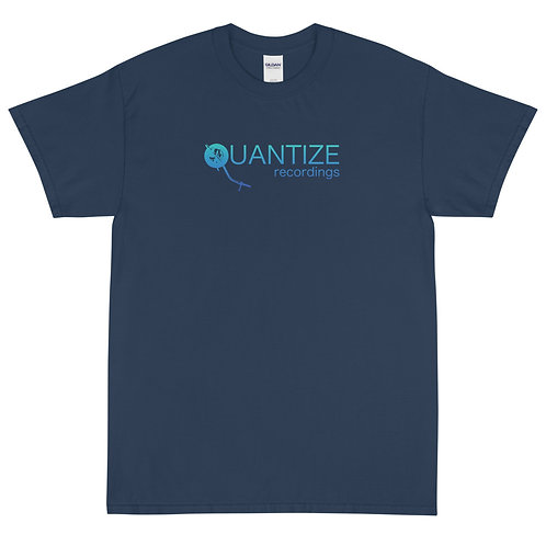 Quantize Blue Logo Men's Short Sleeve T-Shirt
