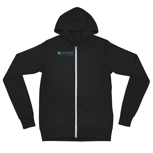 Quantize Blue Logo Unisex zip hoodie