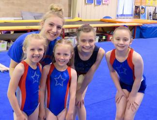 Gymnasts with coach Megan!