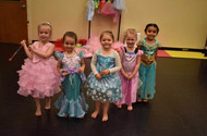 Playing dress up and freeze dance!