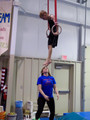 Competitive boys gymnast on the rings!