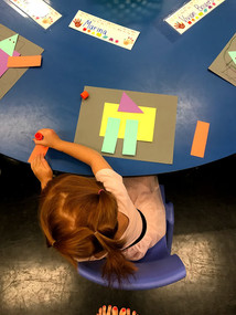 Learning shapes by creating a robot!