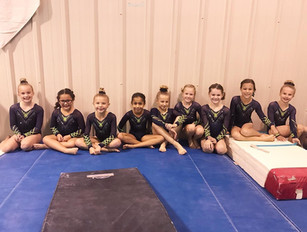 Level 2's waiting to perform their bar routines!