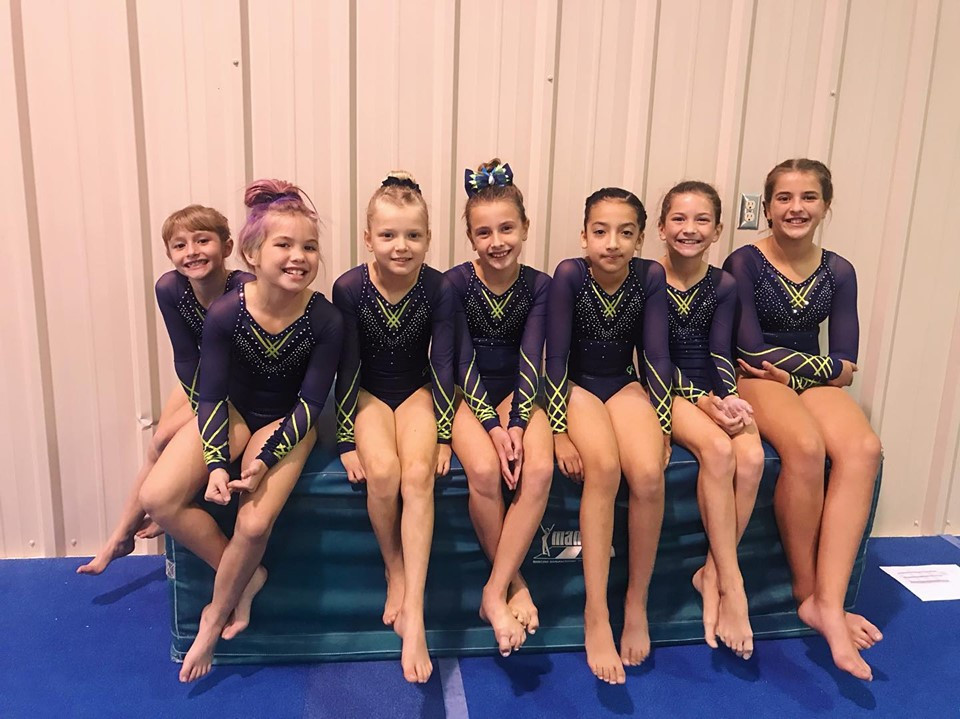 Level ... waiting to perform their bars routines!