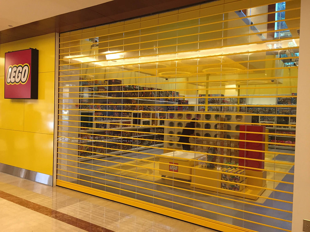 Transparent PC Polycarbonate Retail Roller Shutter Singapore