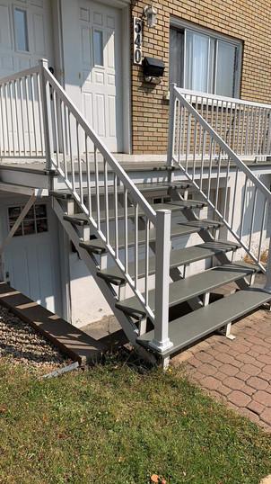 Changement de rampe en aluminium
