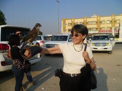 Con halcón en Dubai