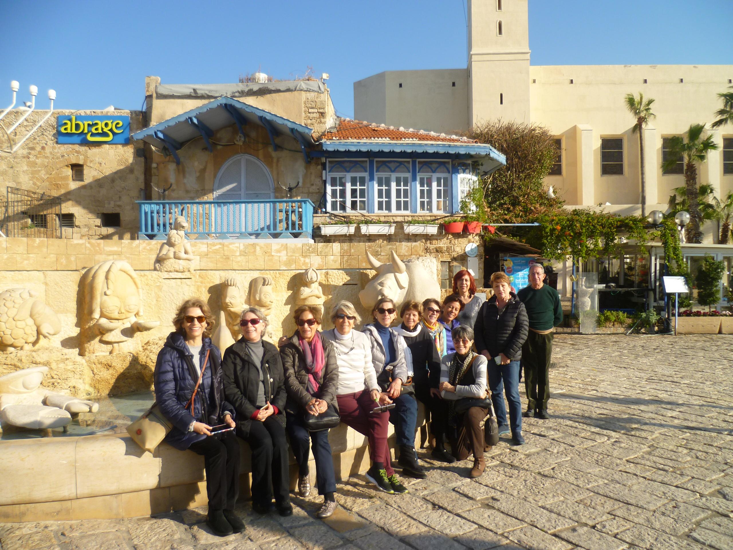 Con viajeros en Israel