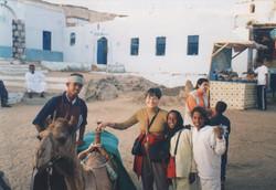 Con niños en Nubia